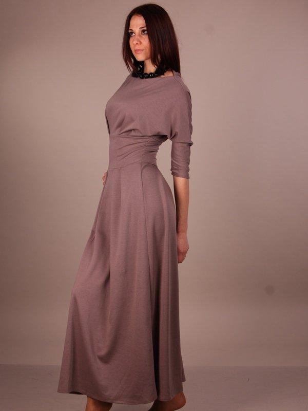 Платье трикотаж в пол