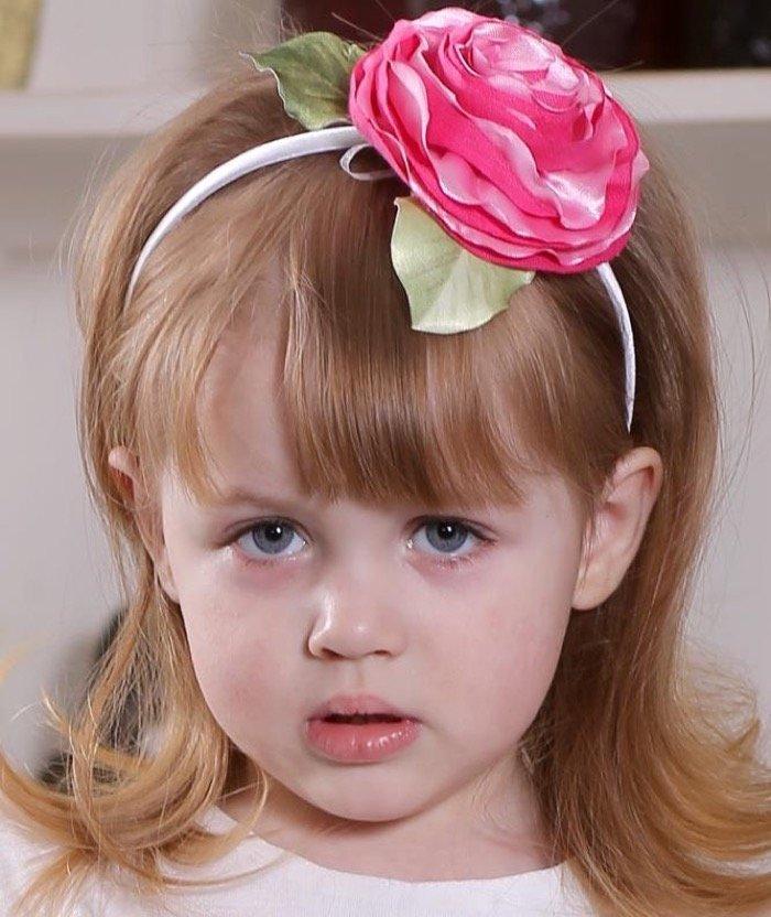 Ободки с цветами для девочек