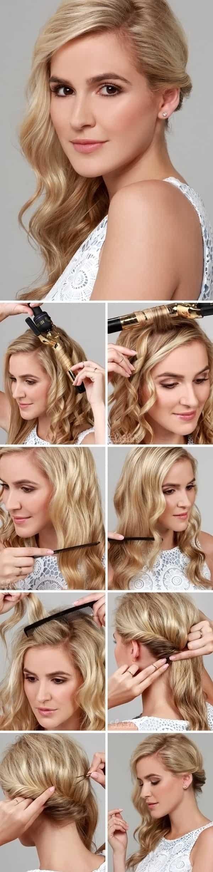 Прическа с локонами на средние волосы как сделать
