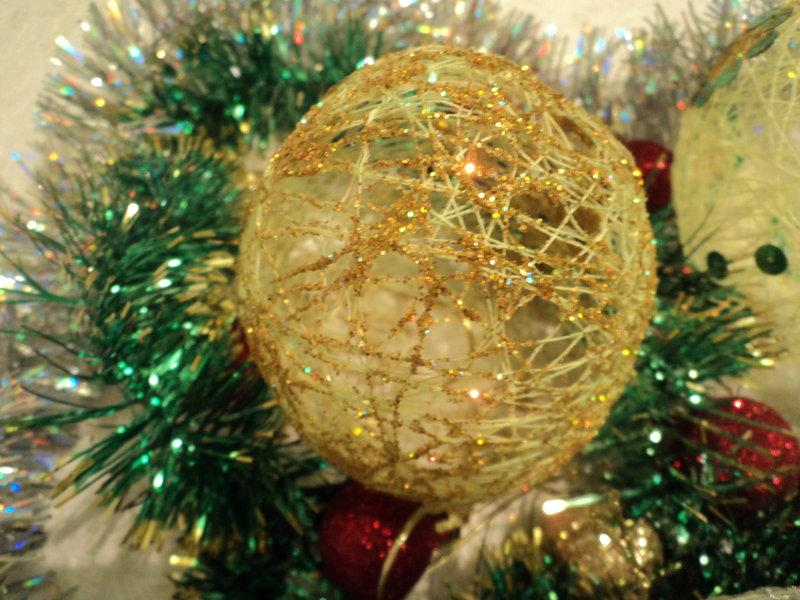 Самодельные шарики на елку картинки