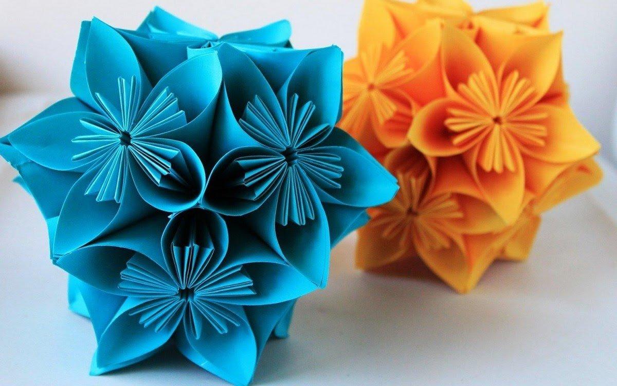 Цветок из бумаги на подарки 107
