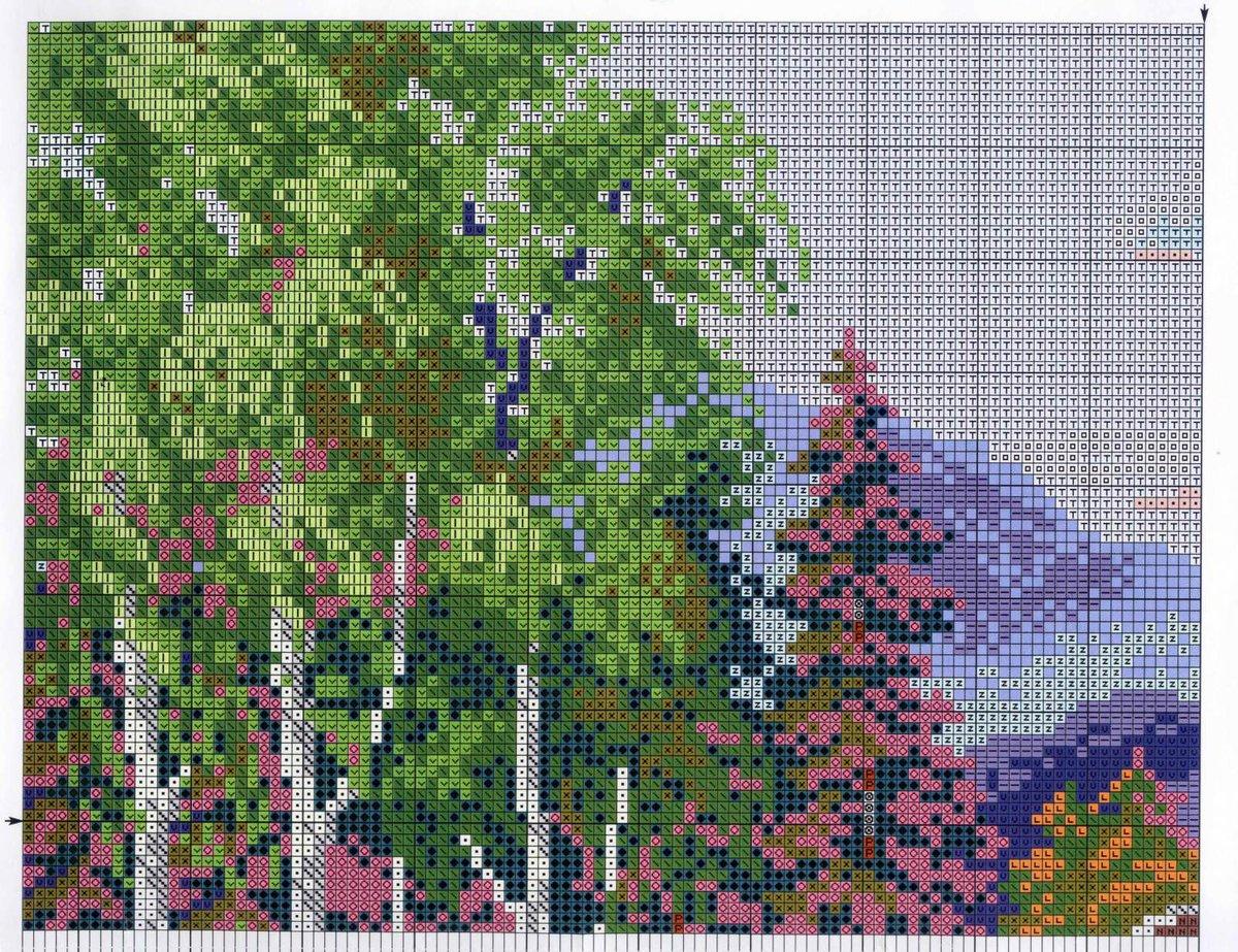 Домик в лесу - Схемы и наборы вышивки бисером крестом 45