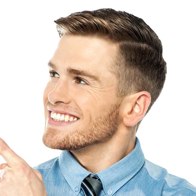 Фото классических причесок для мужчин
