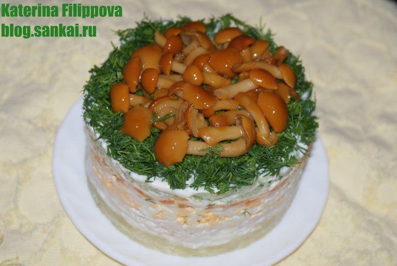 Как сделать салат грибная поляна рецепт