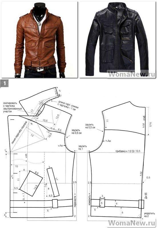 Как сшить зимнюю куртку мужскую 64