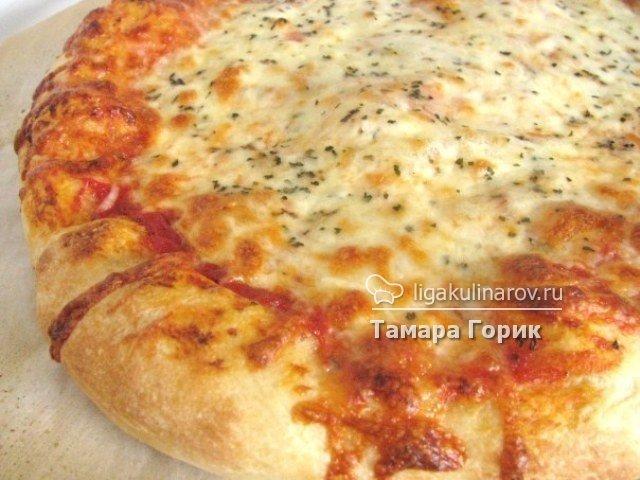 Рецепт пиццы на пышном тесте в духовке