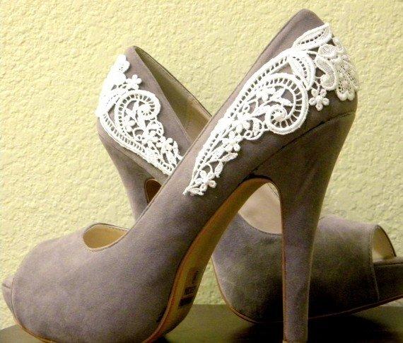 Кружевные туфли своими руками 53