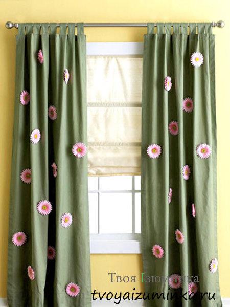 Чем украсить шторы своими руками 177