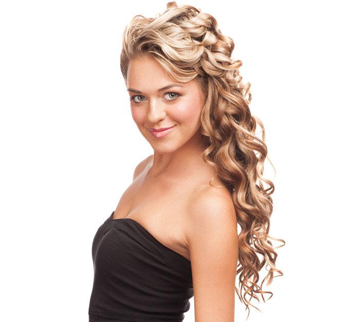 Прически нарядные на длинные волосы