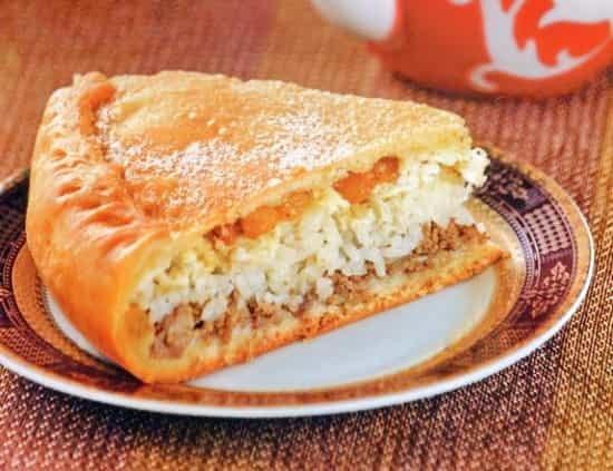Рецепт татарского пирога с рисом