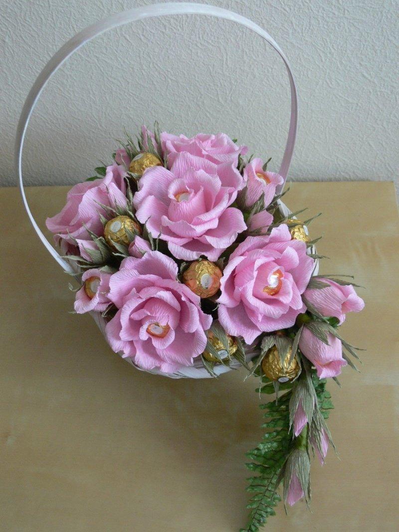 Оригинальные букеты своими руками из роз