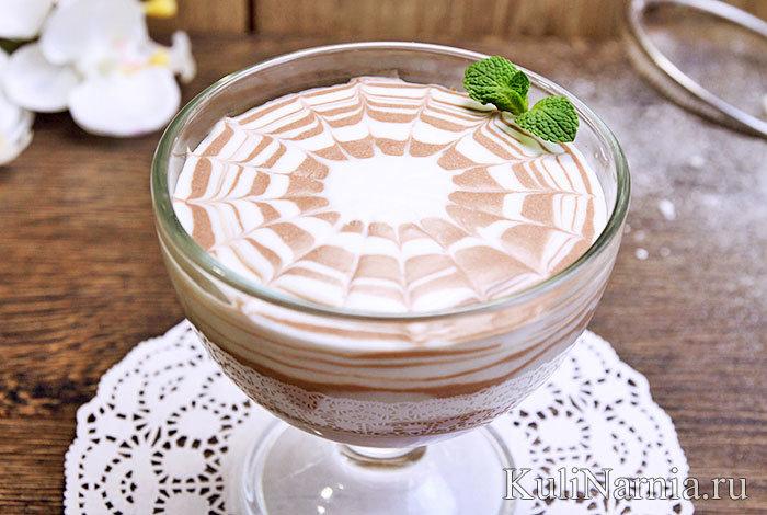 Как сделать желе с какао и сметаной 248