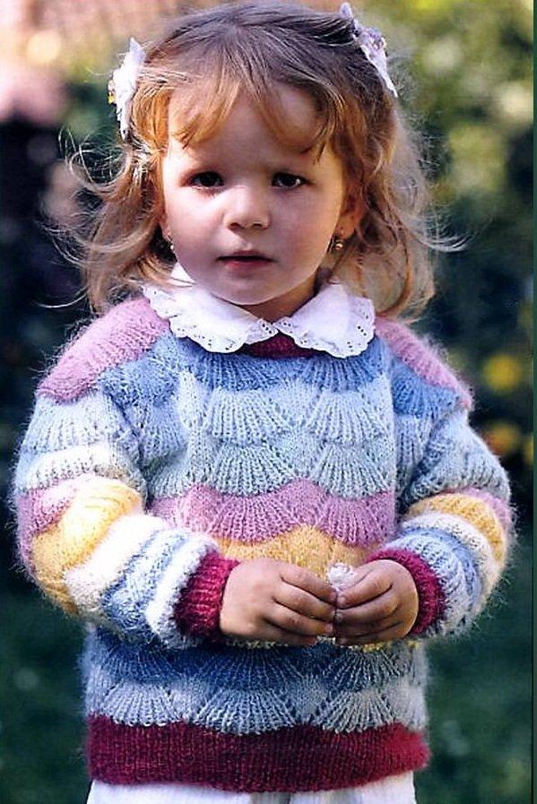 Интересное вязание для девочек спицами