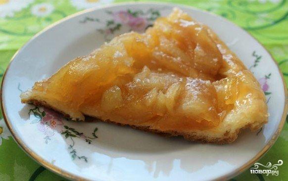 Рецепт пирога с яблоками на сковороде с