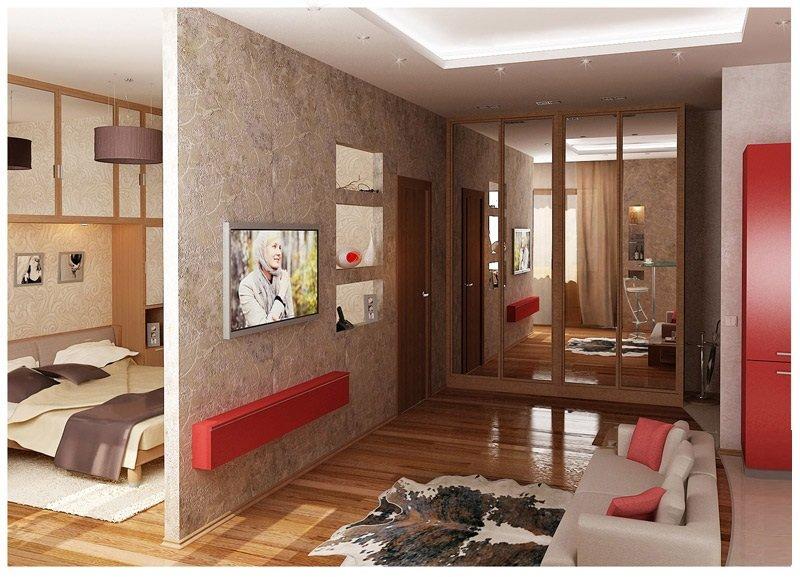 Ремонт с перепланировкой в однокомнатной квартире