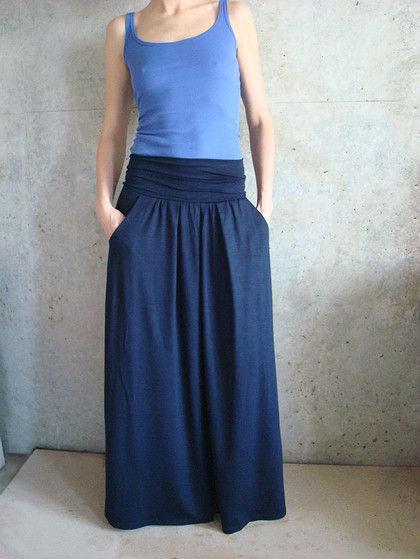 Как сшить длинную широкую юбку 78
