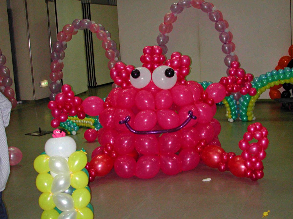 Как сделать полотно из шаров