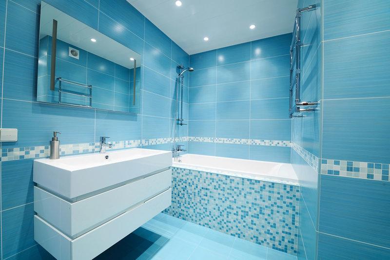 Ванная комната дизайн в синих тонах