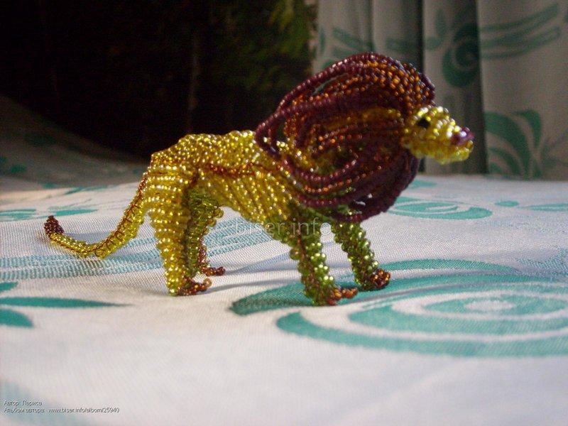 Бисероплетение лев