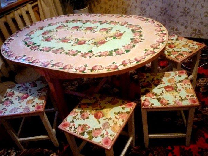 Как реставрировать старый кухонный стол