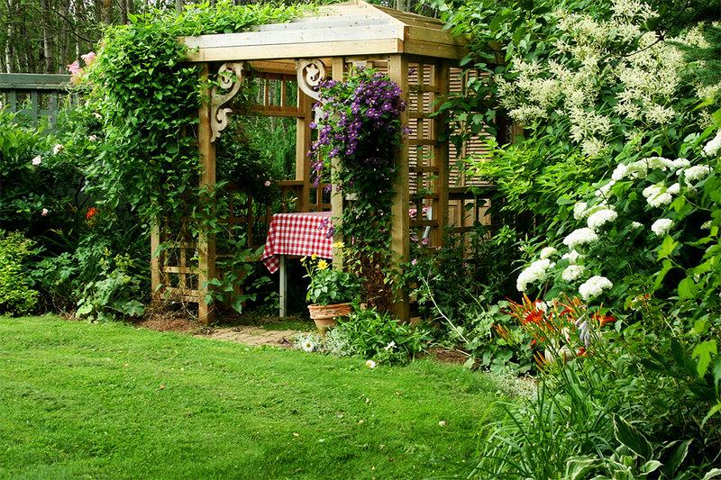 С как сделать дом сад красивым