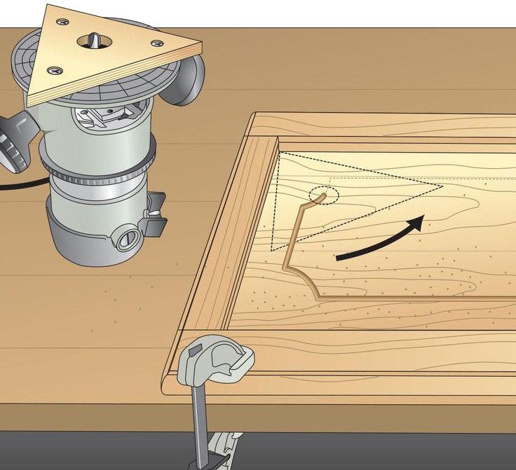 Ручной фрезер как сделать дверь