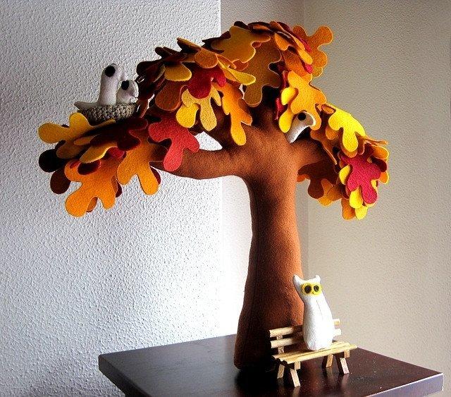 Сшить дерево из ткани своими руками 5
