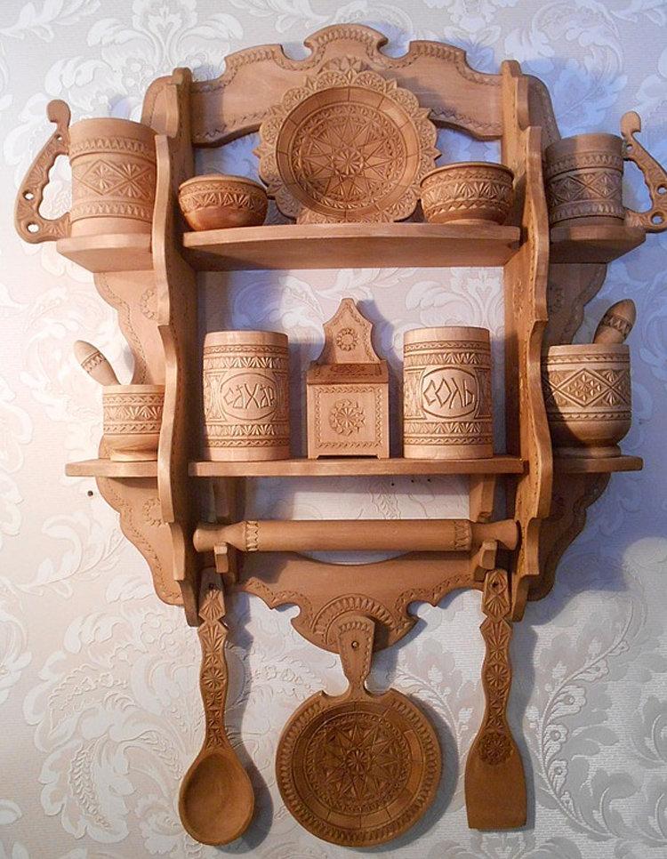 Посуда из дерева для кухни своими руками 79