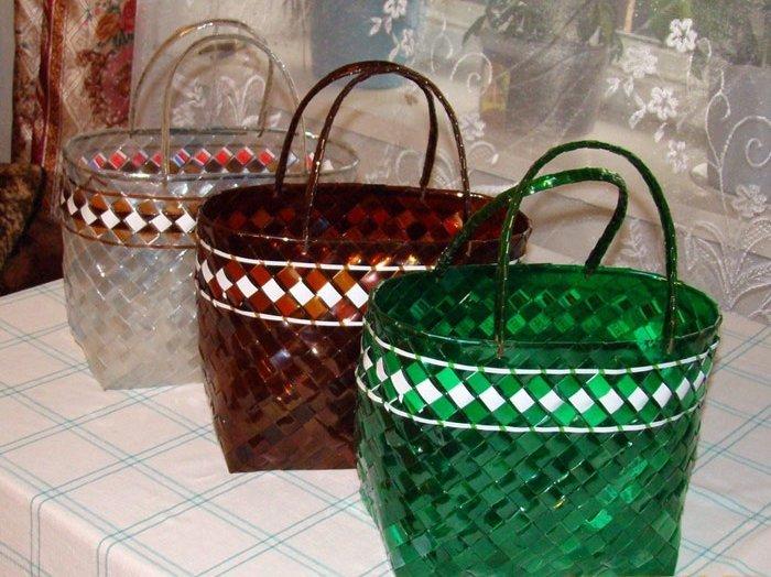 Как сделать корзину для белья из пластиковых бутылок