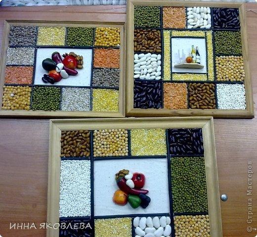 Картины для кухни из крупы