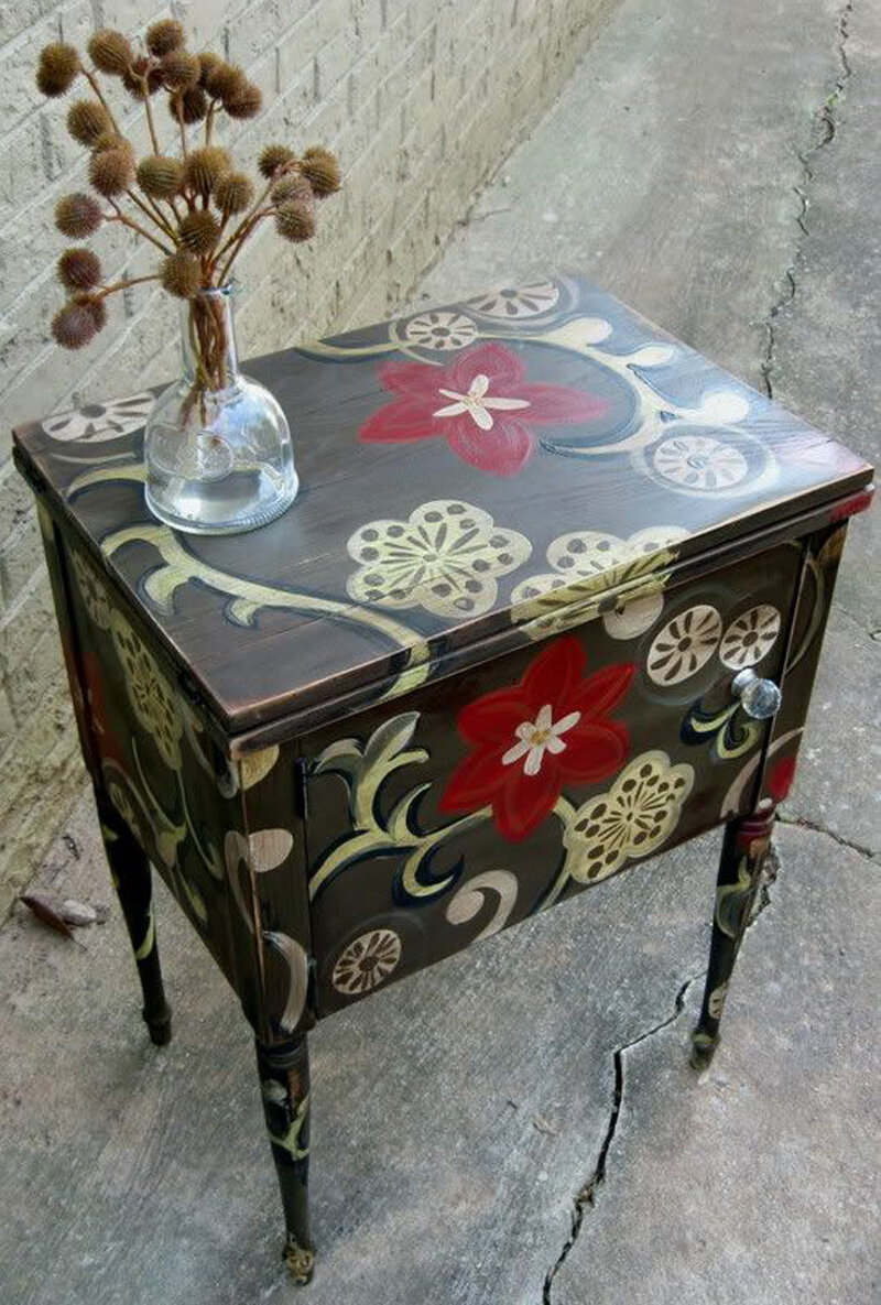 Роспись по мебели своими руками