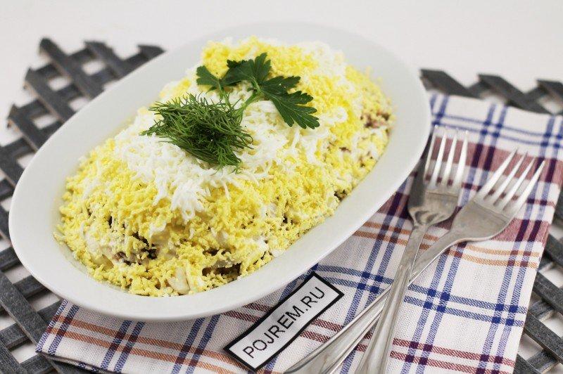 Салат желтый одуванчик рецепт с