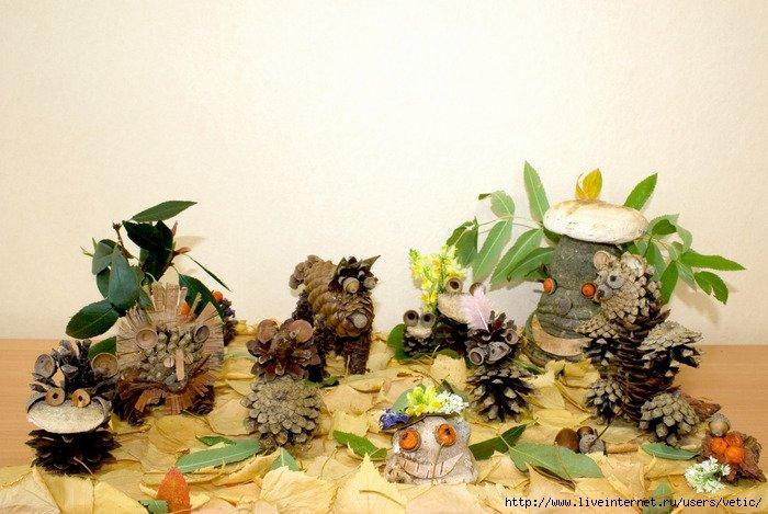 Композиция из природных материалов своими руками на тему осень