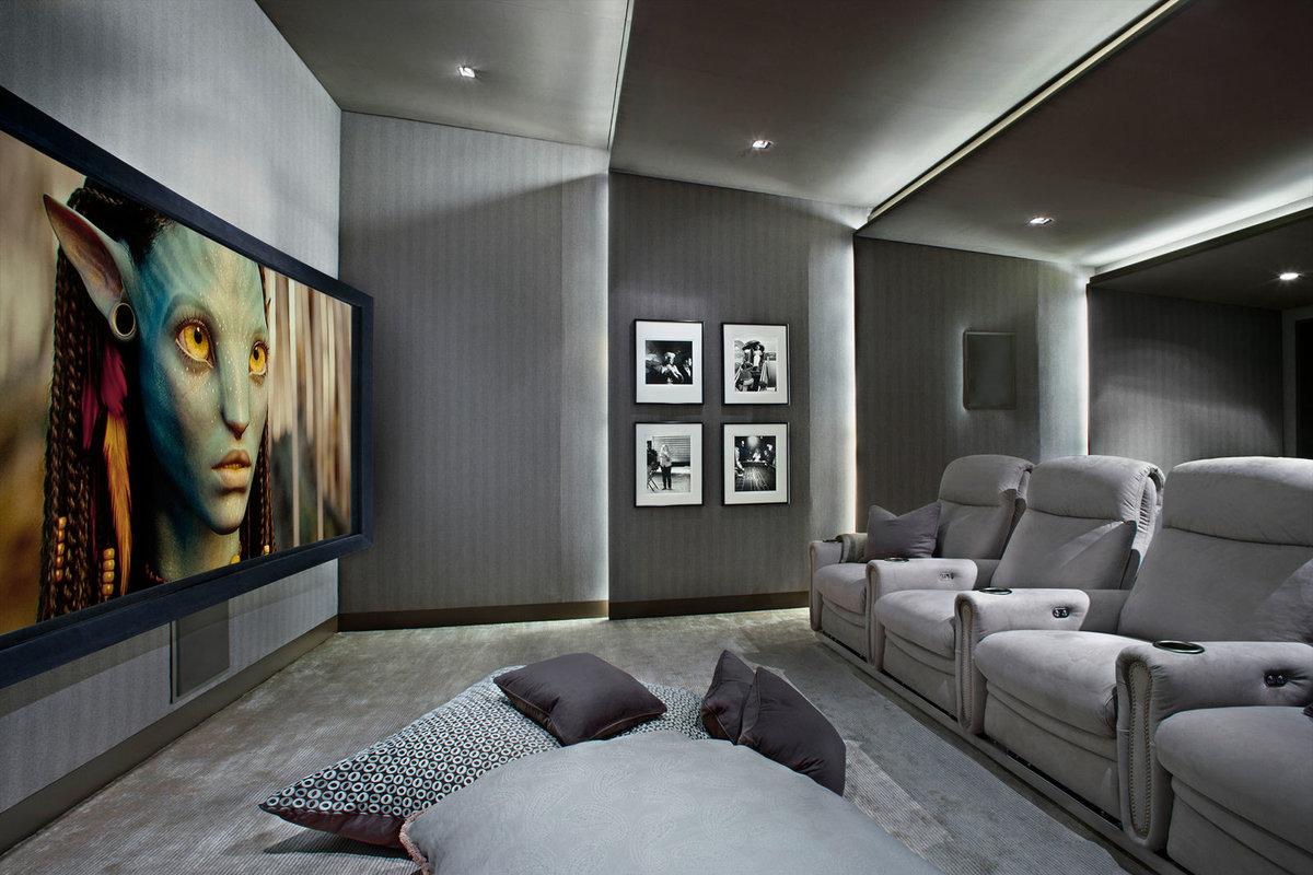 Домашний кинотеатр в дизайне квартиры