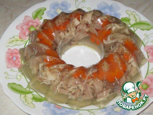 Заливное из курицы с желатином рецепт пошагово в мультиварке