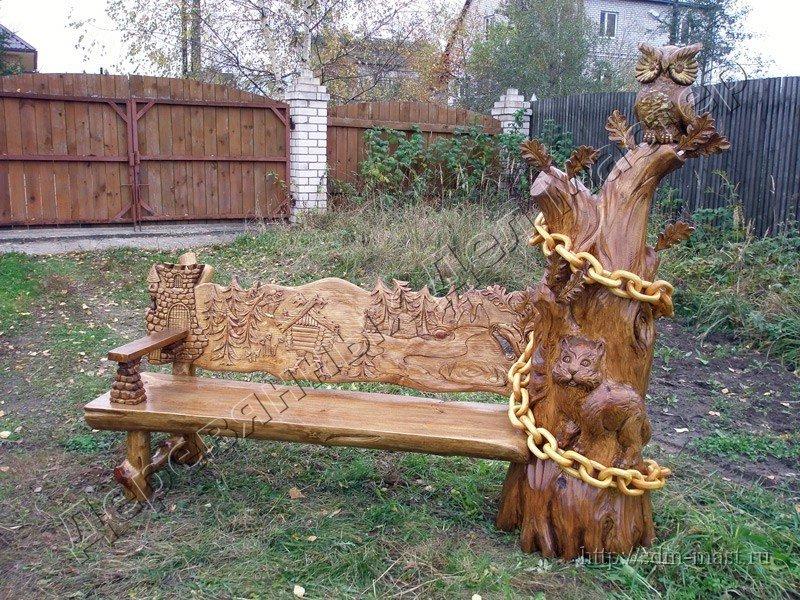 Изделия из дерева для участка своими руками