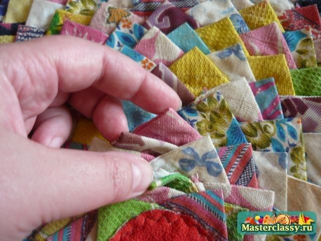 Поделки из лоскутков драпа 7