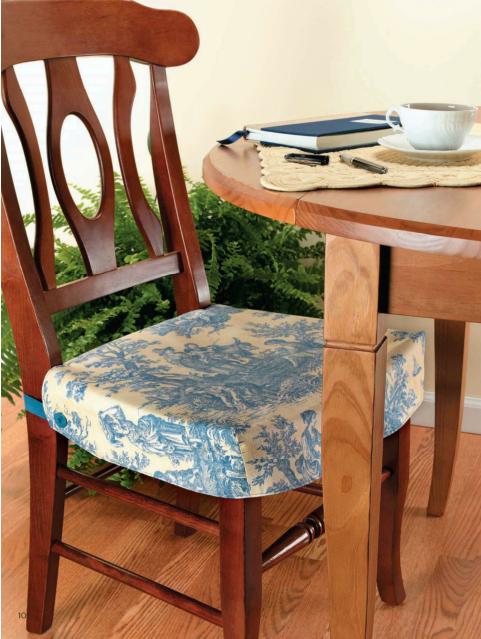 Как сделать сидушки на стулья своими