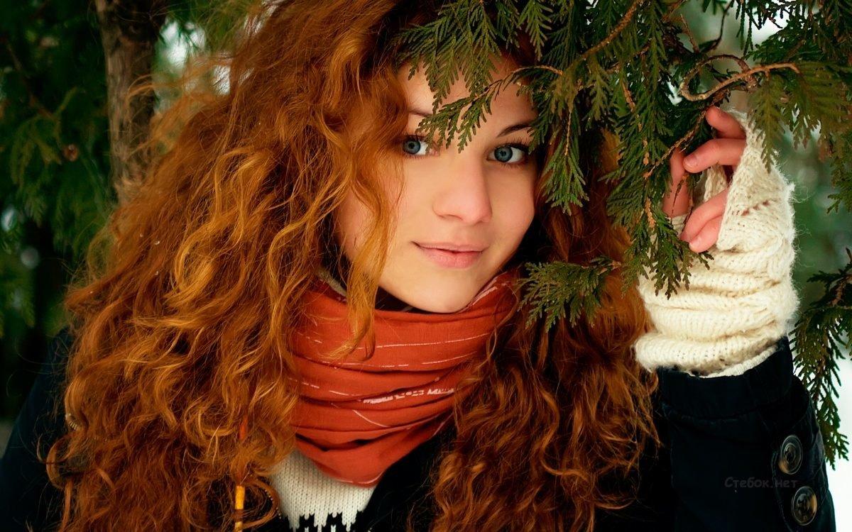 Рыжие волосы с химией