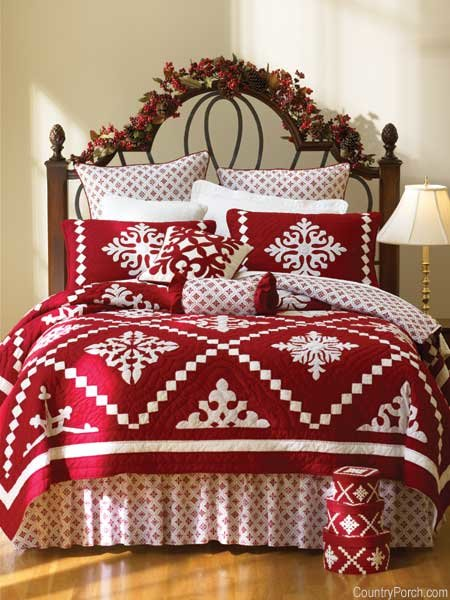 Новогоднее покрывало на кровать своими руками 65