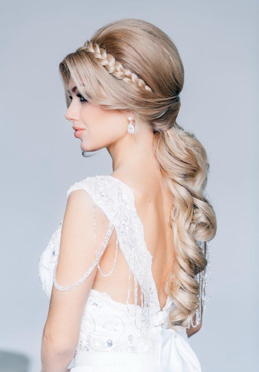 прическа косы на средние волосы фото пошагово