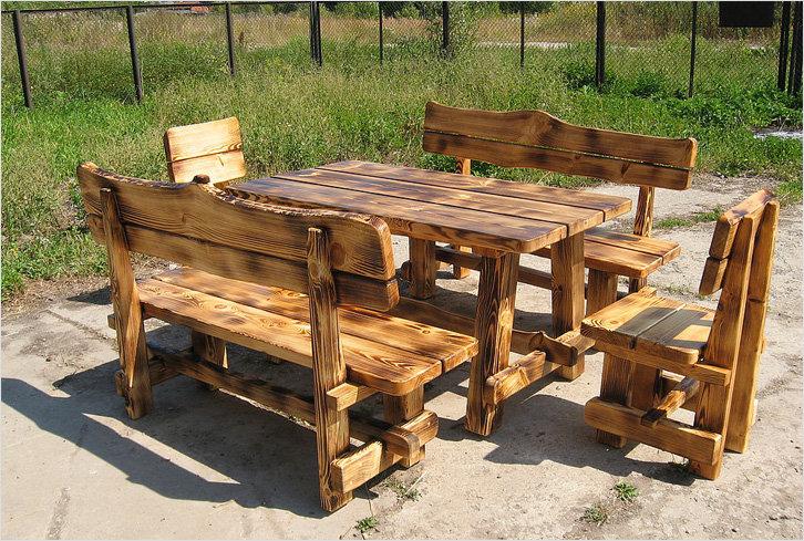 Стол и скамейки для дачи своими руками из дерева фото 40