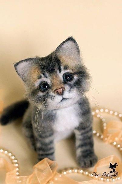 Войлочный котенок как сделать
