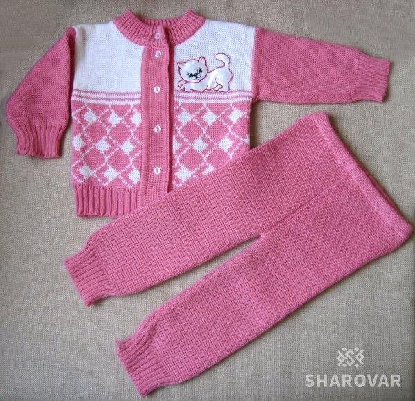 Вязание теплые костюмы для девочки 480