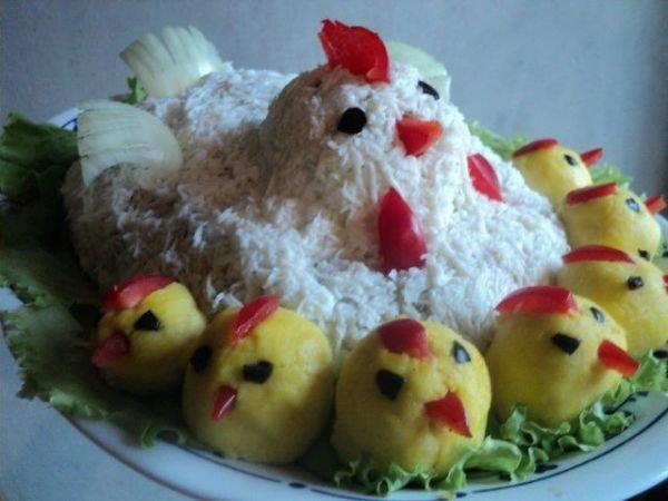 Салат на новый год без яиц и курицы