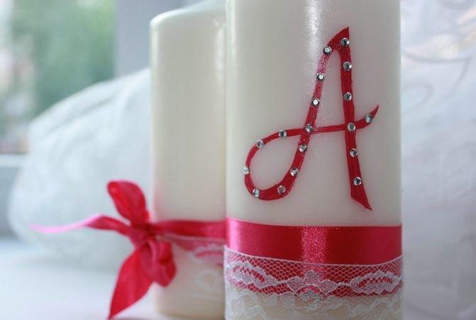 Сделать свадебную свечу своими руками