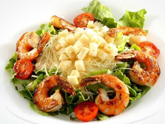 Цезарь салат с креветками рецепт
