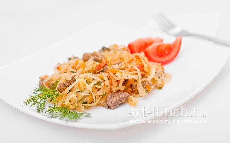 Капуста с говядиной рецепт пошаговый