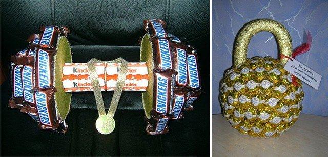 Прикольные подарки своими руками из конфет