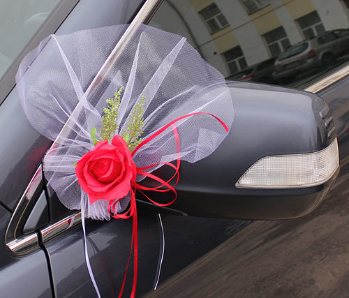Как сшить бант на машину свадебную 33